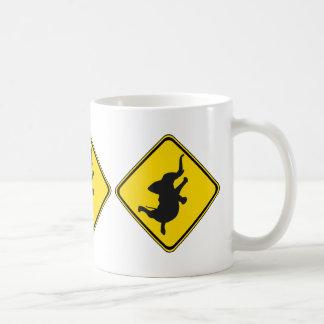 Alert: Dancing Elephant Xing! Coffee Mug