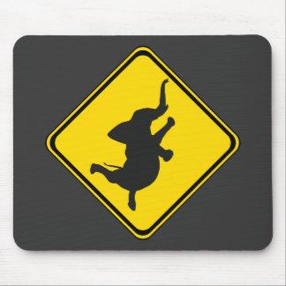 Alert: Dancing Elephant Xing! Mouse Pad