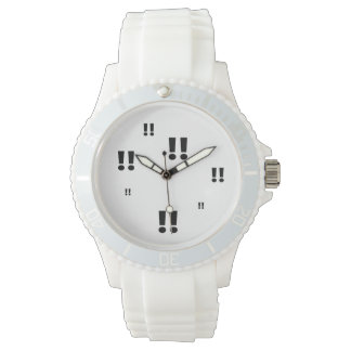 Alert Exclamation mark Sporty White Silicon Watch