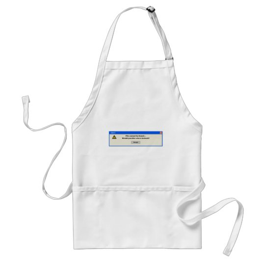Alert file cannot be found adult apron