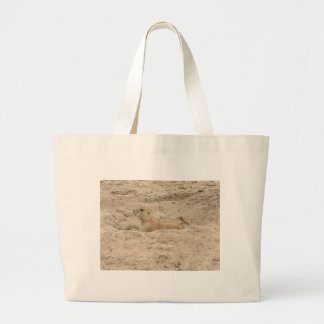 Alert Little Prairie Dog Large Tote Bag
