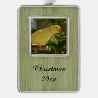 Alert Lutino Indian Ringneck Christmas Ornament