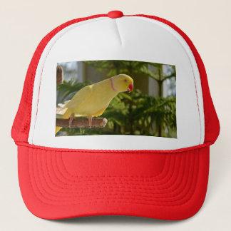 Alert Lutino Indian Ringneck Trucker Hat