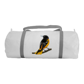 Alert Male Baltimore Oriole Gym Duffle Bag