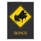Alert: Piano Player Ahead! Card
