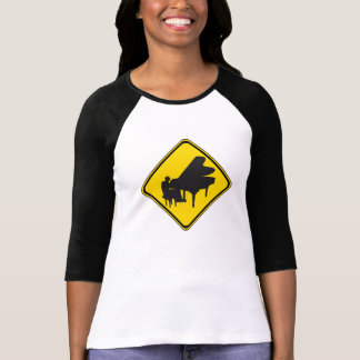 Alert: Piano Player Ahead! T-Shirt