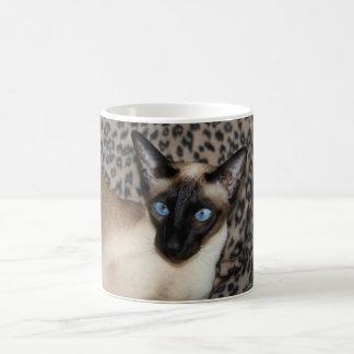 Alert Siamese Cat Classic White Coffee Mug