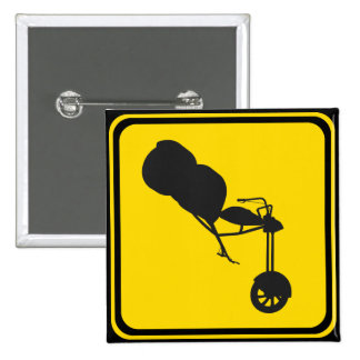 Alert, Trikes Xing! 2 Inch Square Button