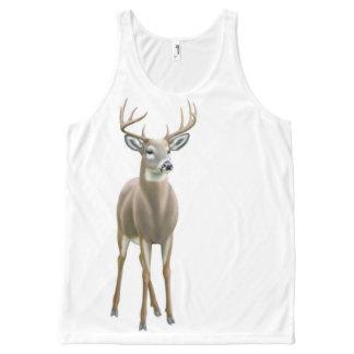 Alert Whitetail Buck Deer Unisex Tank