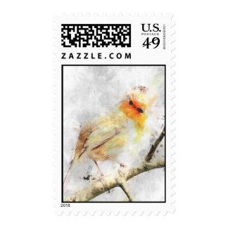 Alert Winter Robin Postage
