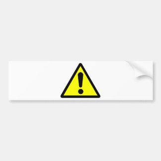 Alerta Car Bumper Sticker