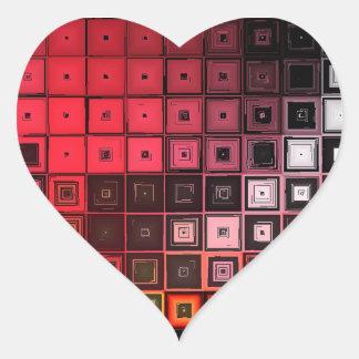 Alerta roja calcomanías corazones personalizadas