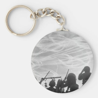 Alerted GIs of M-51 Anti-aircraft_War Image Keychain