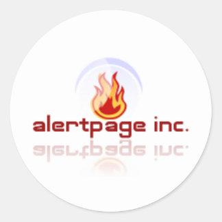Alertpage.net Classic Round Sticker