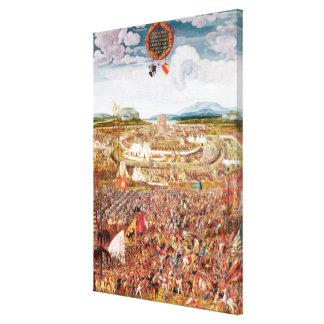 Alesia Besieged by Julius Caesar Canvas Print