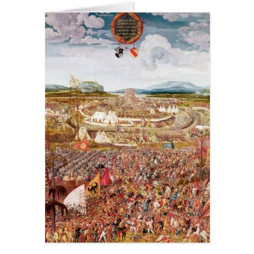 Alesia Besieged by Julius Caesar Greeting Card