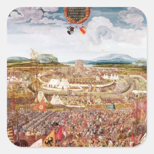 Alesia Besieged by Julius Caesar Square Sticker