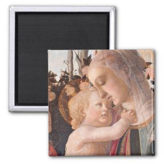 Alessandro Botticelli's The Virgin and Child Fridge Magnets