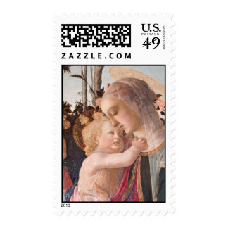 Alessandro Botticelli's The Virgin and Child Postage Stamps