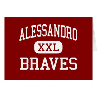 Alessandro - Braves - Middle - Moreno Valley Greeting Cards