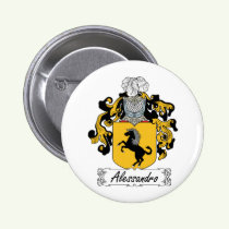 Alessandro Family Crest Button