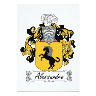 Alessandro Family Crest Card