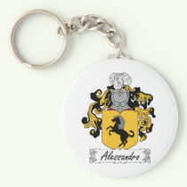 Alessandro Family Crest Keychain