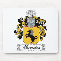 Alessandro Family Crest Mousepad