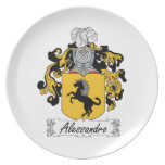 Alessandro Family Crest Party Plate
