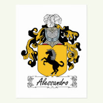 Alessandro Family Crest Postcard