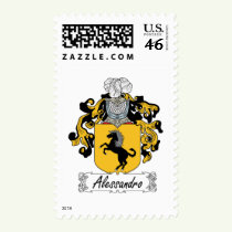 Alessandro Family Crest Stamps