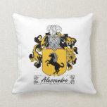 Alessandro Family Crest Throw Pillows