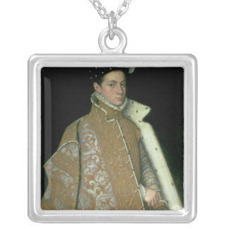 Alessandro Farnese ,later Governor of Netherlands Square Pendant Necklace