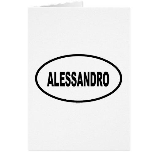 ALESSANDRO TARJETA DE FELICITACIÓN