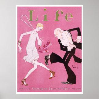 Aleta 1926 de la portada de revista de la vida impresiones