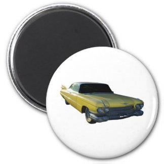 Aleta amarilla grande 59 Cadillac Imán Para Frigorífico