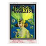 Aleta Champán y portada de revista antigua de las  Postal