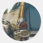 Aleta de cola del Bel Air de Chevy Etiquetas Redondas