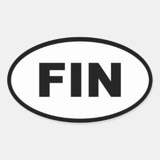 ALETA de Finlandia - europeo Calcomania Óval