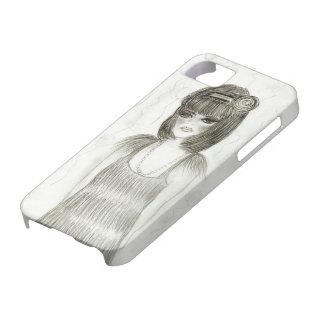 Aleta de la chica marchosa iPhone 5 Case-Mate protectores
