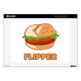 Aleta de la hamburguesa acer chromebook skins