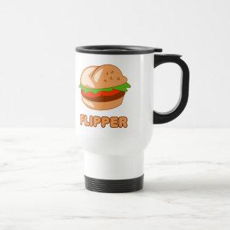 Aleta de la hamburguesa taza de viaje de acero inoxidable