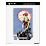 aleta de los años 20 con el paraguas calcomanías para NOOK color