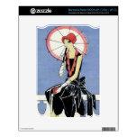 aleta de los años 20 con el paraguas skins para elNOOK