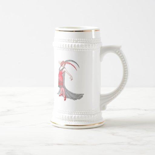 Aleta del escarlata de Redqueen Tazas De Café
