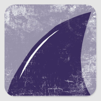 aleta del tiburón pegatina cuadrada
