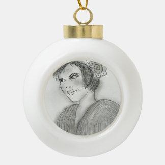 Aleta descarada adorno de cerámica en forma de bola