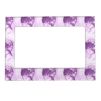 Aleta estrellada en púrpuras marcos magnéticos de fotos
