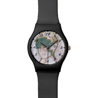 Aleta estrellada torcida reloj de mano
