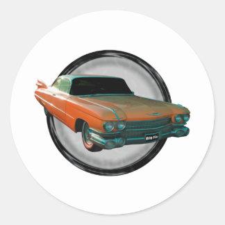 Aleta grande 1959 de Cadillac Pegatina Redonda